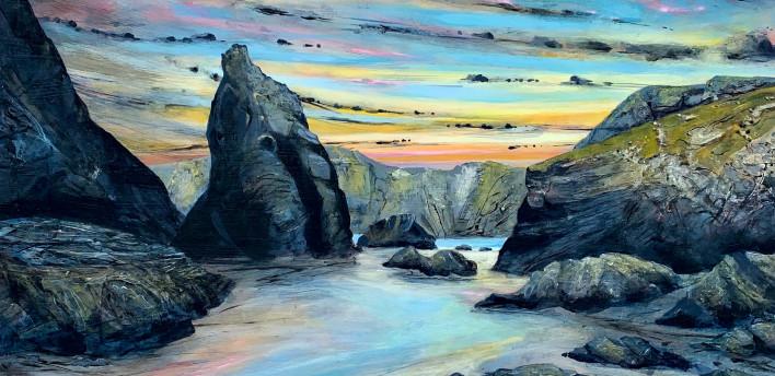 Sunset Kynance Cove